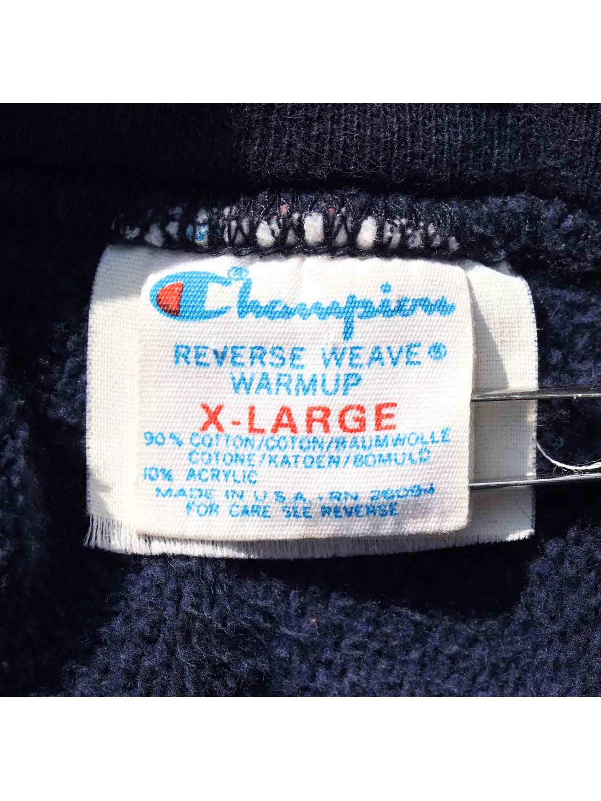 80's CHAMPION トリコタグ 3段プリント リバースウィーブパーカー [XL]