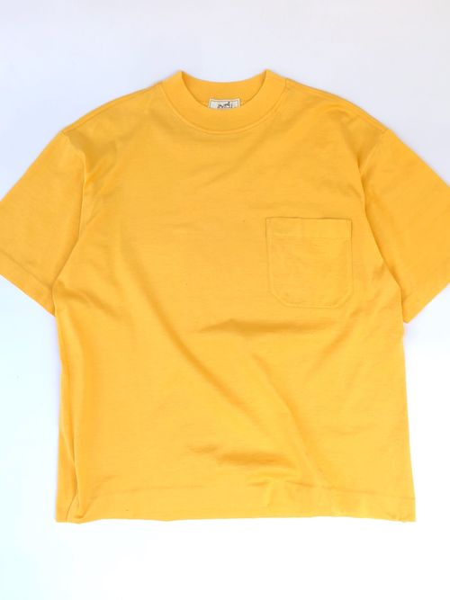 "HERMES /high neck pocket tee ""yellow"""