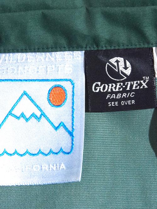 "1970s ""WILDERNESS CONCEPTS"" 2tone gore-tex shirt -GREEN-"