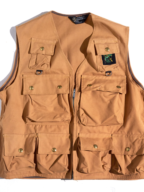 "NOS 1960s ""Columbia Sportswear"" fishing duck vest -BROWN-"