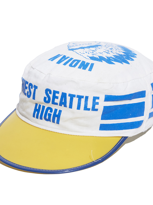 "1980s ""unknown"" cycling cap -WHITE-"