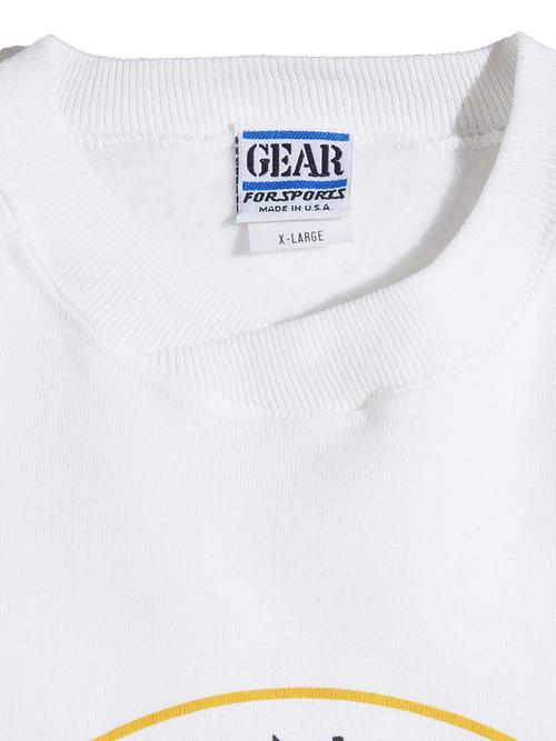 "1990s ""TRUMP PLAZA"" print sweat -WHITE-"