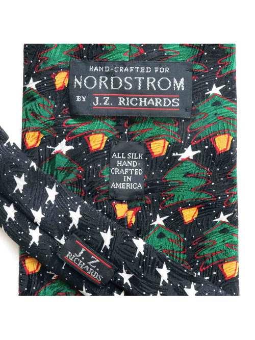 80's J.Z. RICHARDS USA製 クリスマスツリー柄 クリスマス シルクネクタイ