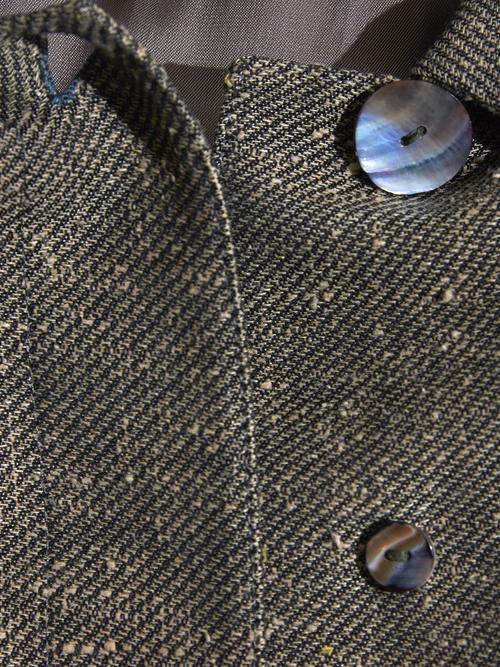"1980s ""unknown"" dolman swiching coat -GREY-"