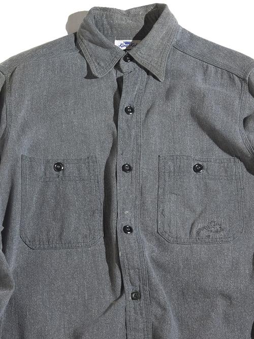 """1950s """"King Kole"""" black chambray work shirt -BLACK- <SALE¥45000→¥36000>"""