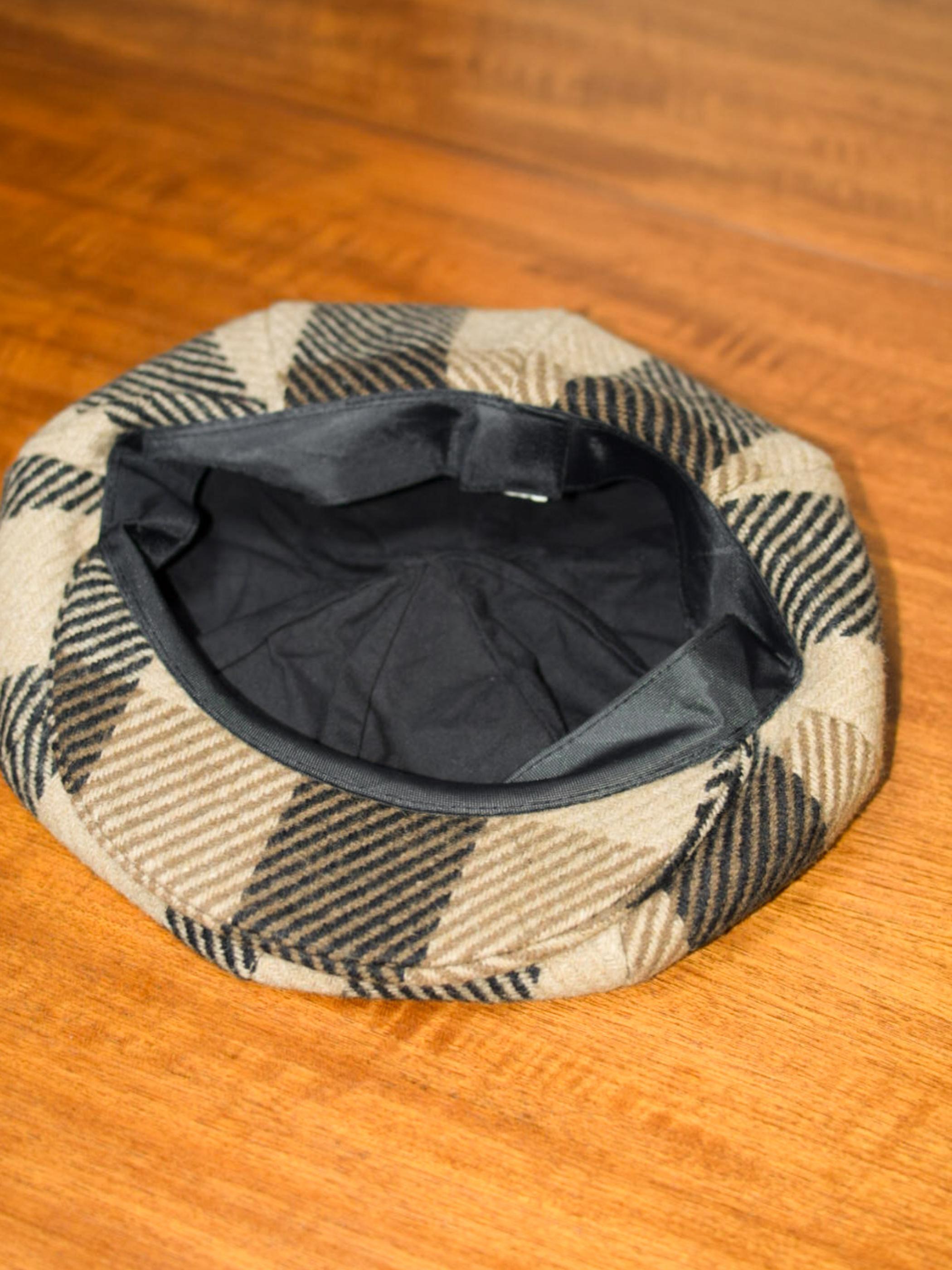 OLD wool casquette check / オールド ウールキャスケット チェック