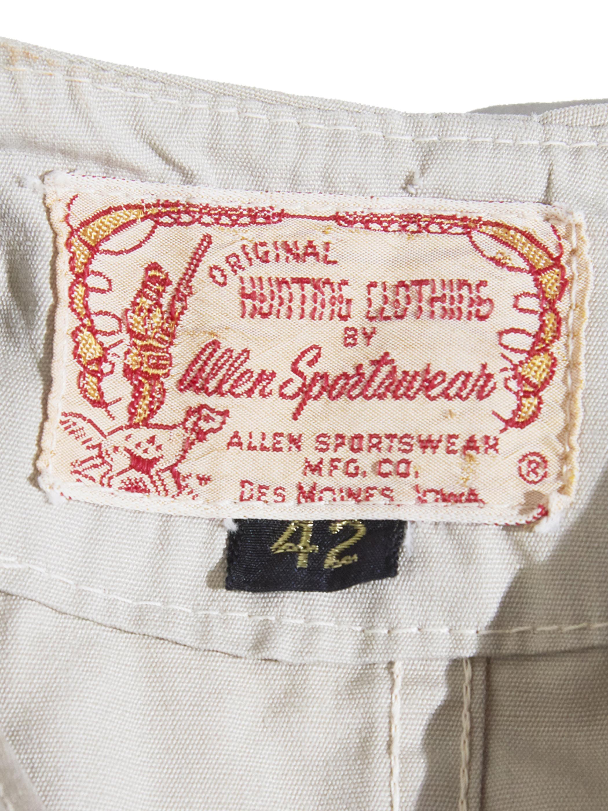 """1950s """"ALLEN SPORTSWEAR"""" shooting jacket -IVORY-"""