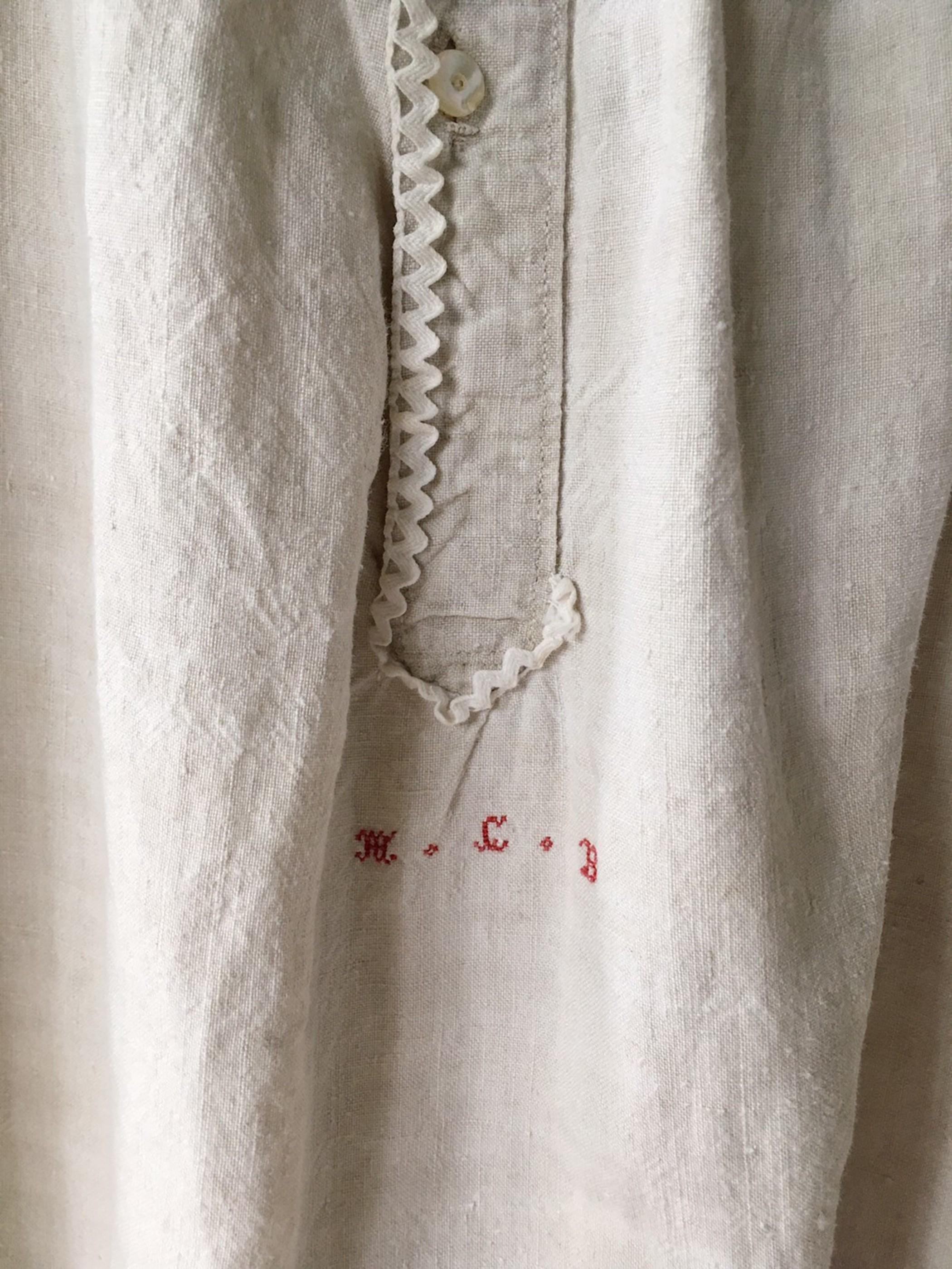 antique french linen dress