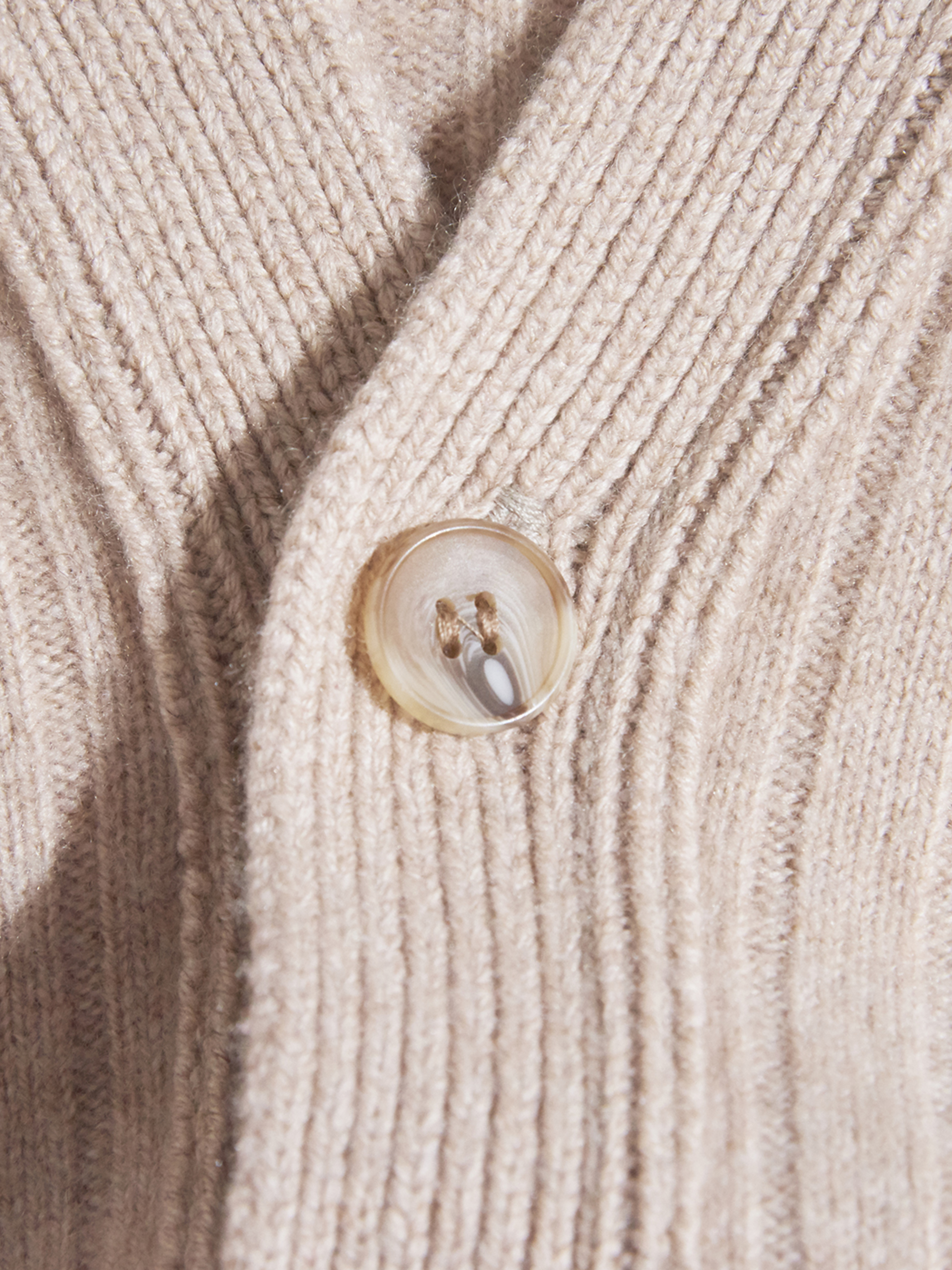 """1960s """"N Peal"""" cashmere knit cardigan -BEIGE-"""