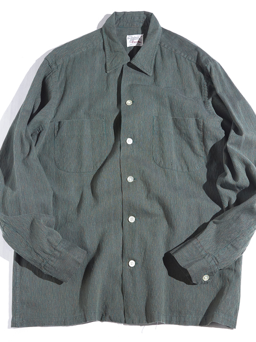 "1960s ""Excello"" cotton shirt -GREEN-"