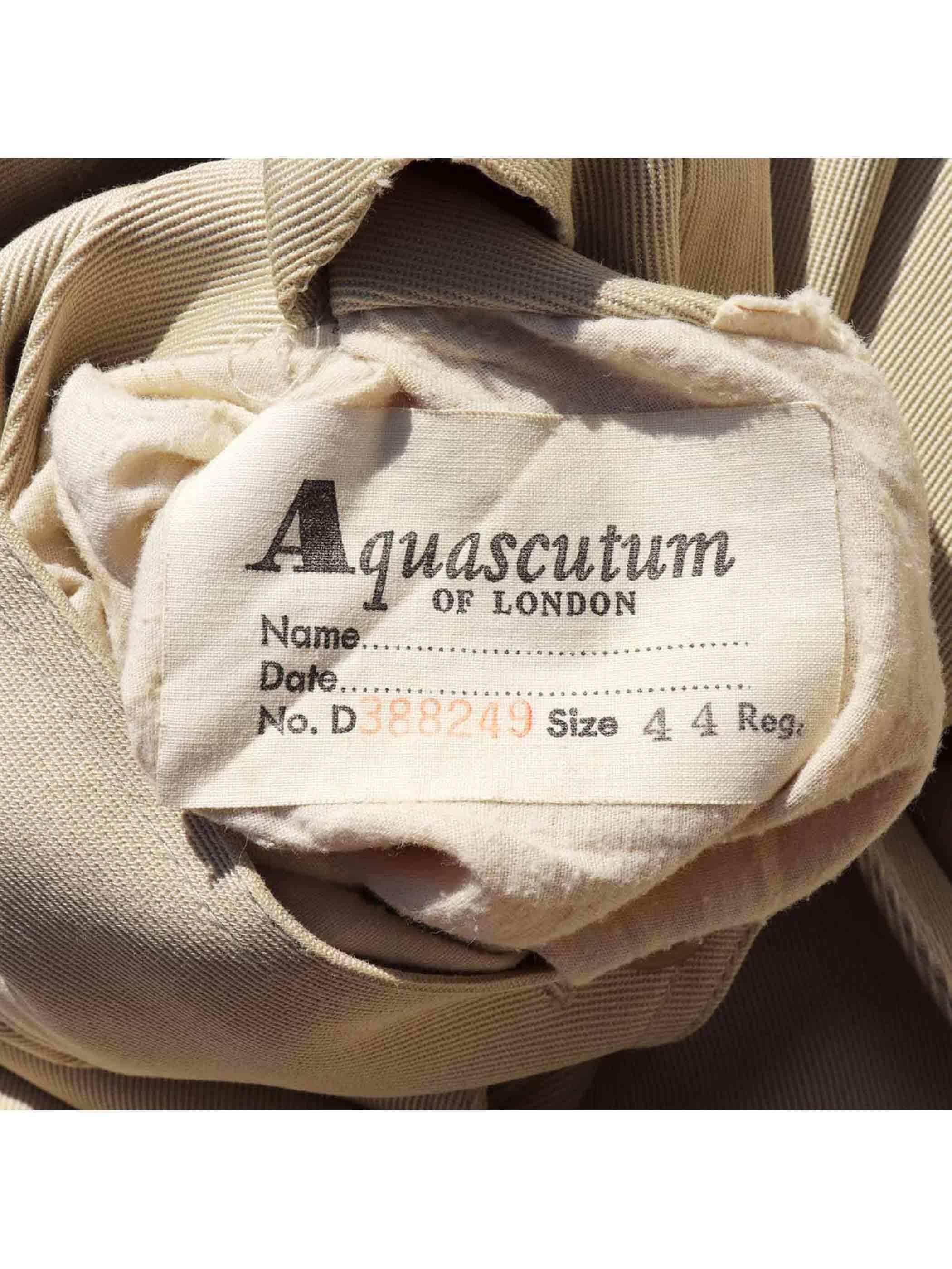 70's~ AQUASCUTUM AQUA5 オールコットン トレンチコート [44-R]