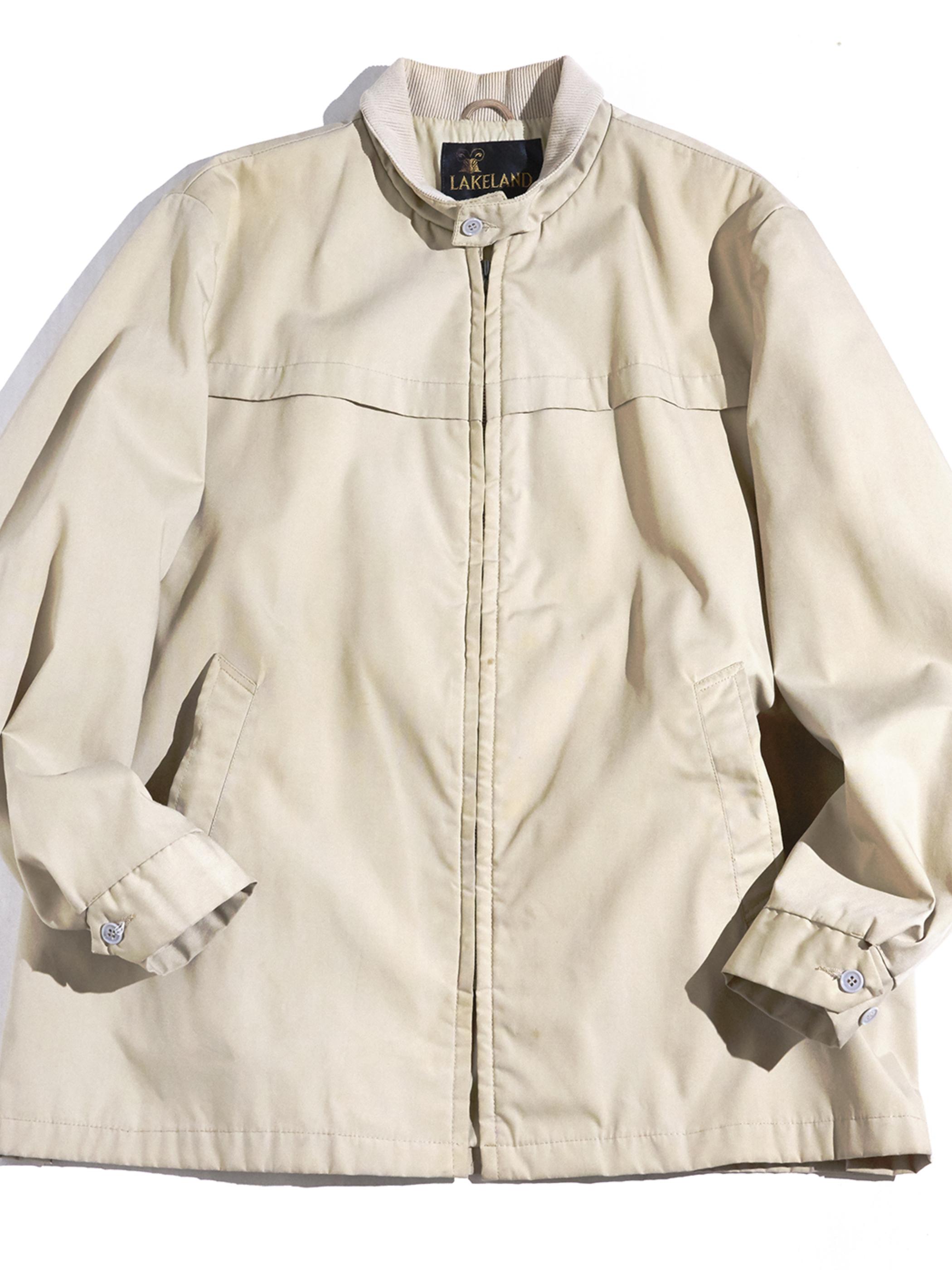 """1970s """"LAKELAND"""" zip up jacket -BEIGE-"""