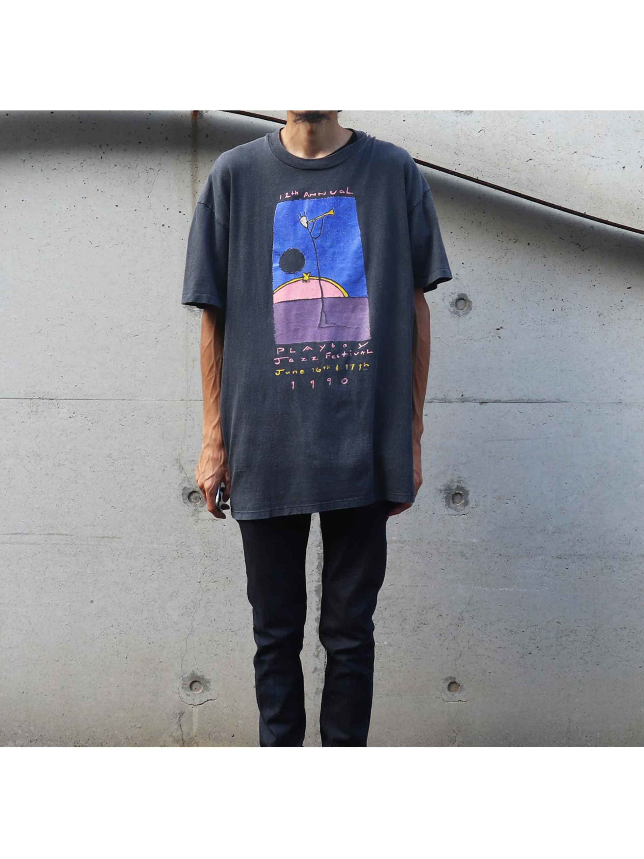 90's PLAYBOY JAZZ FESTIVAL プリントTシャツ [XL]