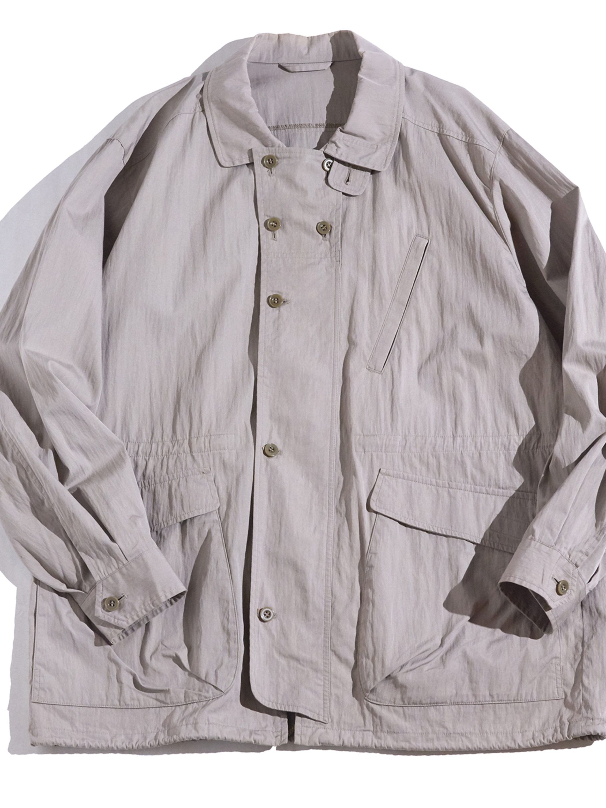 "1990s ""THE SCOTH HOUSE"" cotton typewriter jacket -GREYGE-"