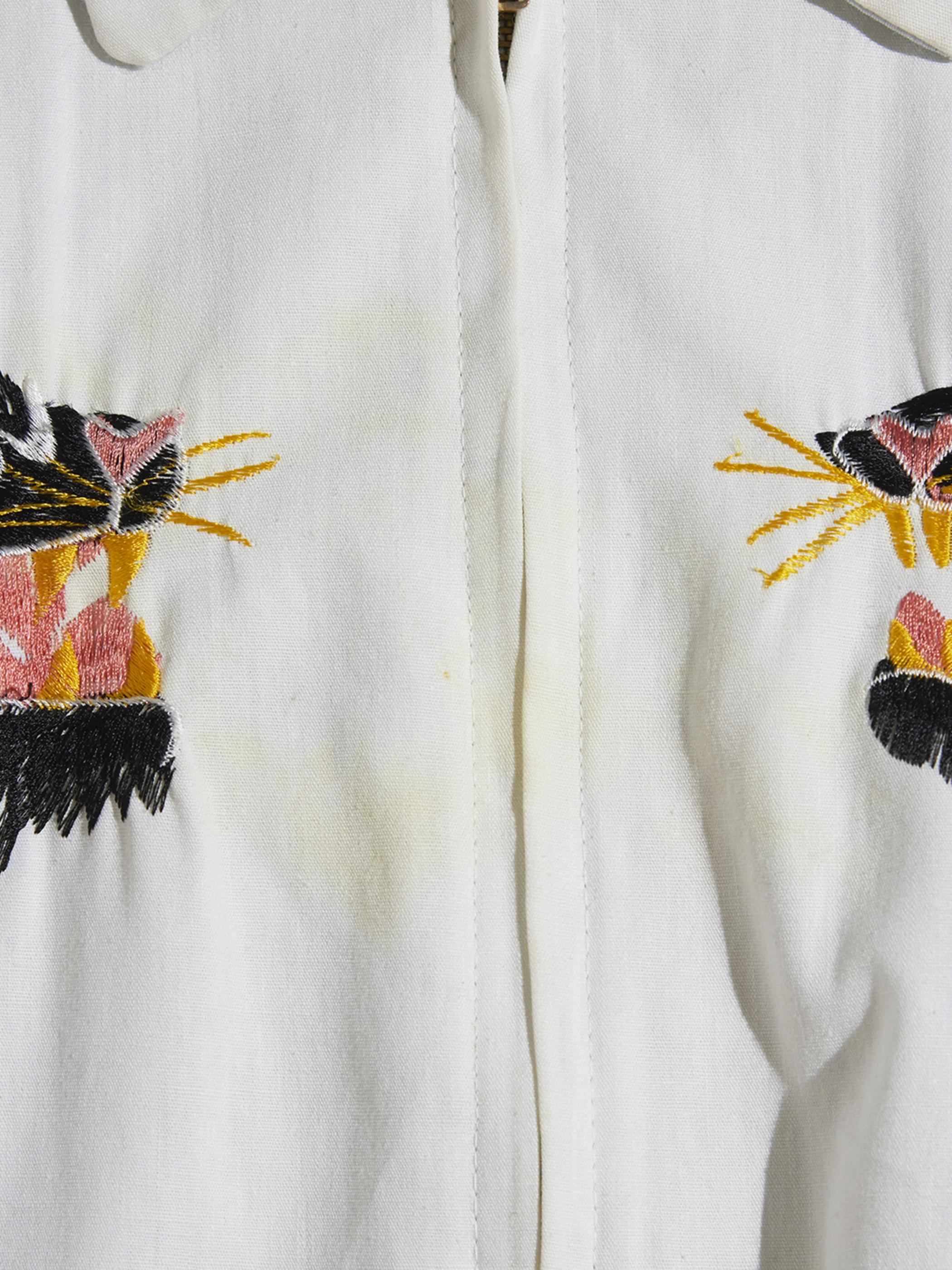 """1950s """"unknown"""" JAPAN reversible souvenir jacket -WHITE-"""