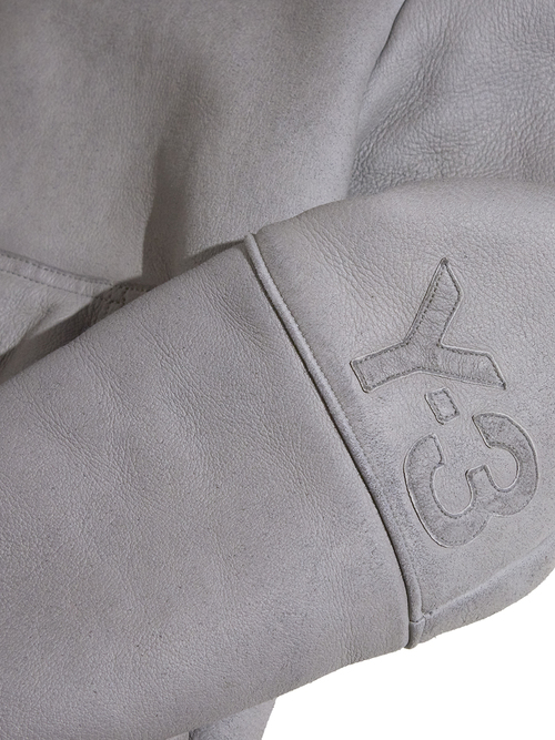 """2000s """"Y-3"""" mouton hooded jacket -GRAY-"""