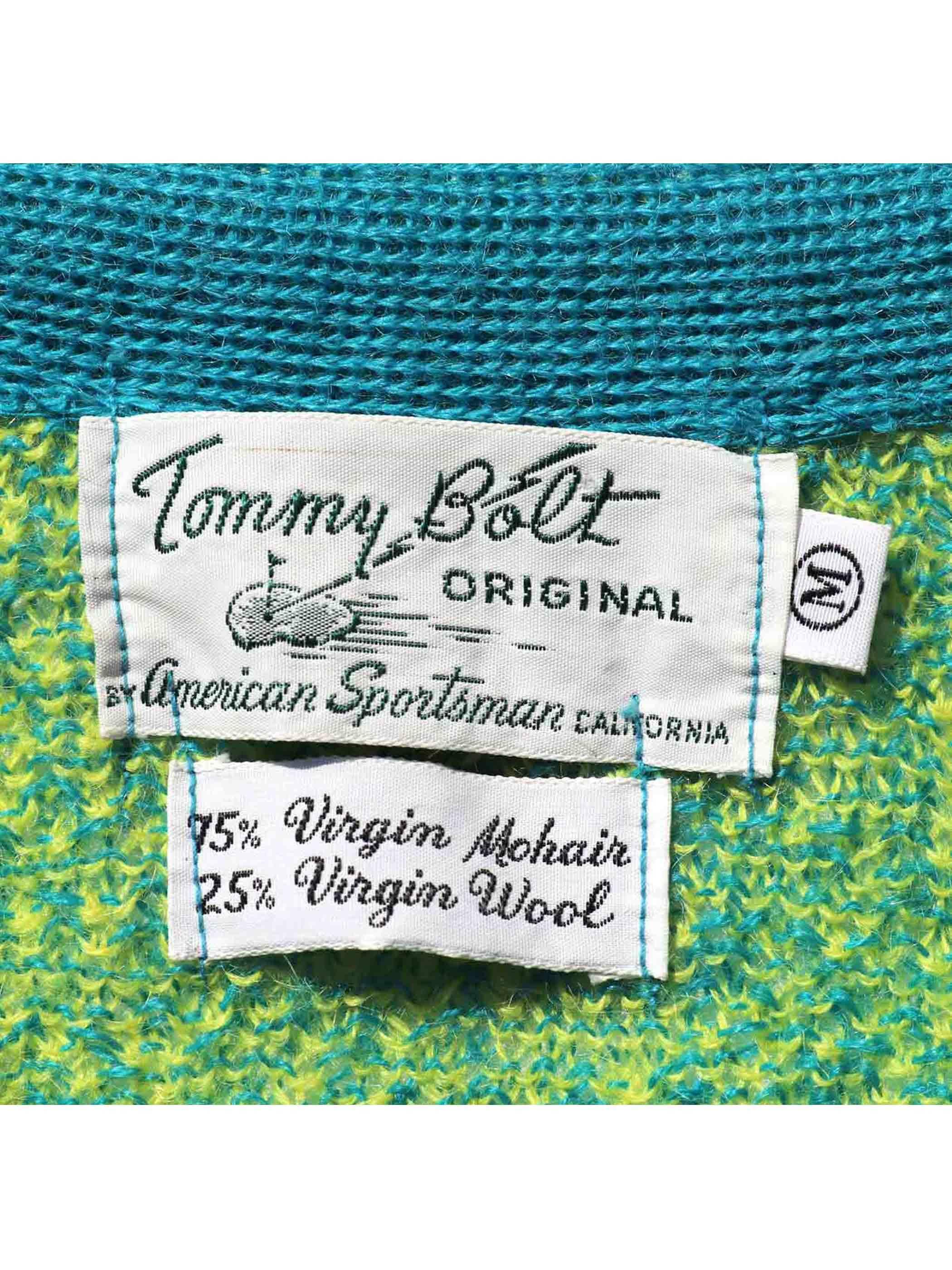 60's TOMMY BOLT ミックス杢 モヘアカーディガン [M]