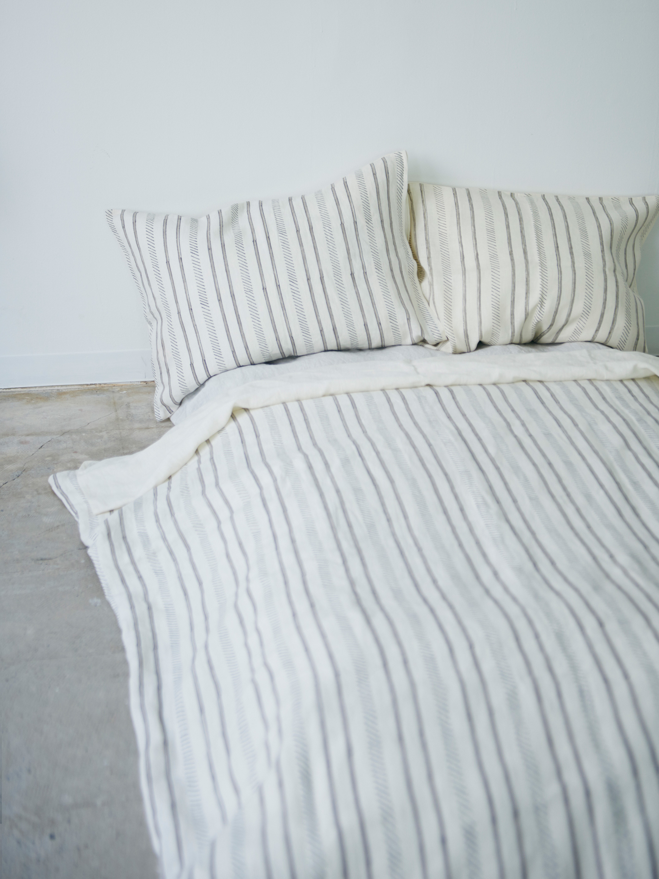 Trail Duvet Cover -Ivory-