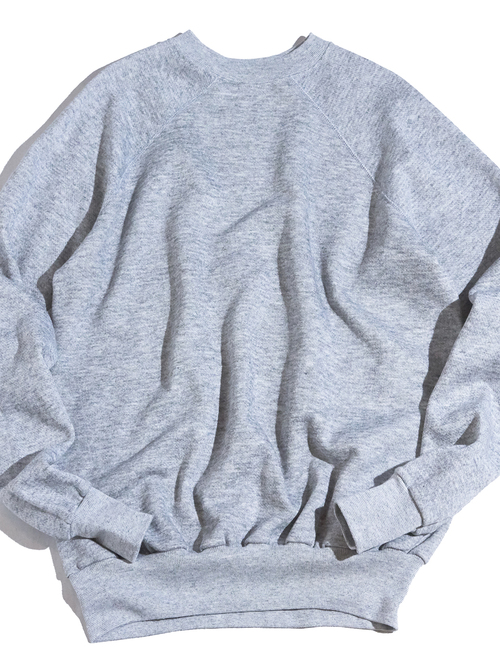 "1970s ""unknown"" heather grey sweat -GREY- <SALE¥8000→¥6400>"