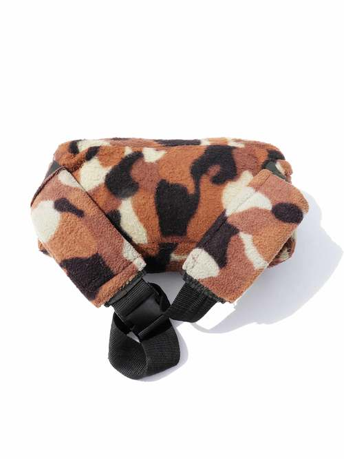 80's FIELDLINE Animal Pattern Fleece Waist Bag Made In U.S.A.