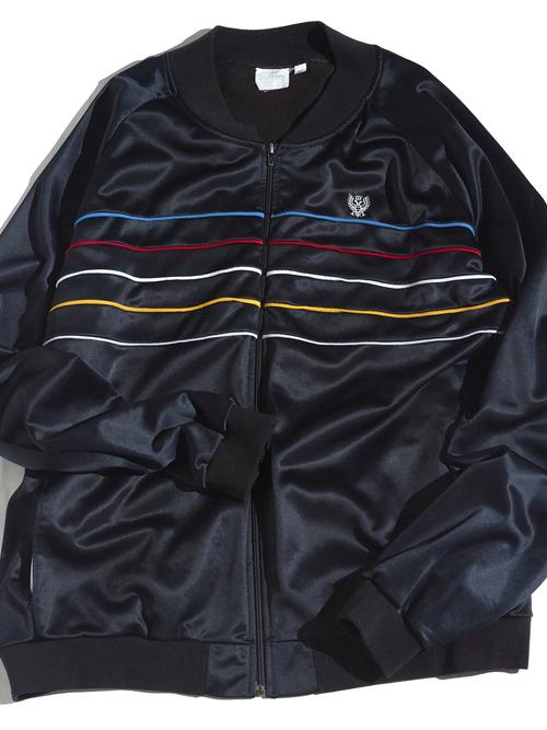 "1980s ""unknown"" tarck jacket -BLACK- <SALE¥10000→¥8000>"
