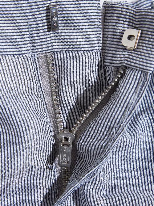 "1960s ""unknown"" nylon seersucker slacks -GREY-"