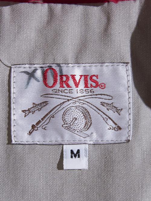 "1960s ""ORVIS"" fishing vest -RED-"