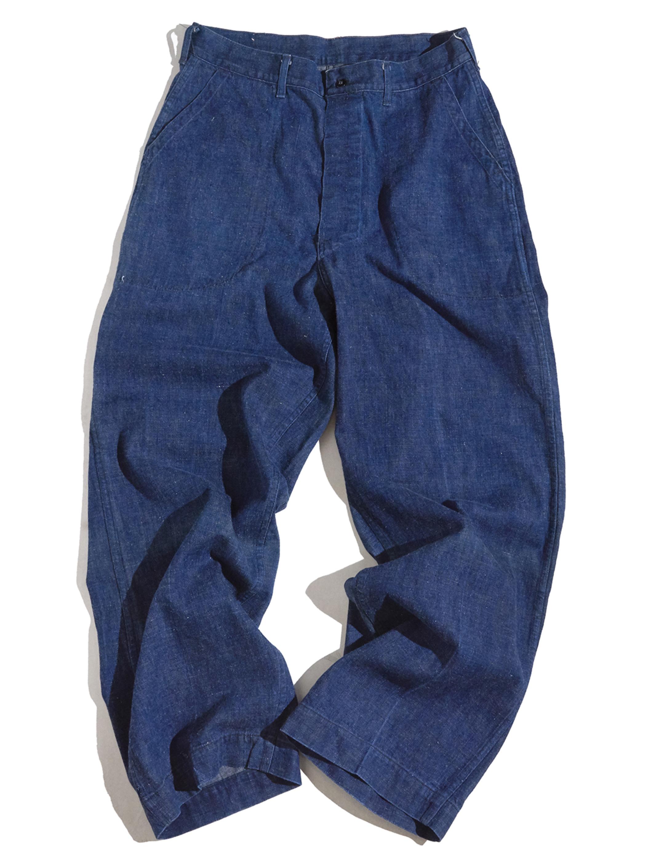 "1950s ""USN"" utility denim trousers -INDIGO-"