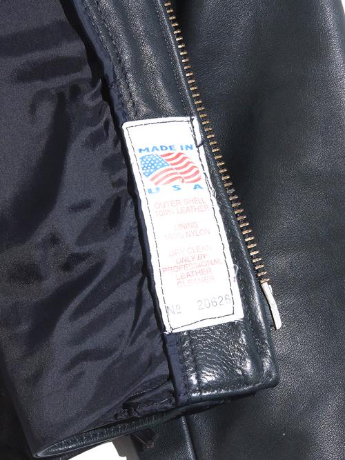 "1980s ""unknown"" single riders jacket -BLACK-"