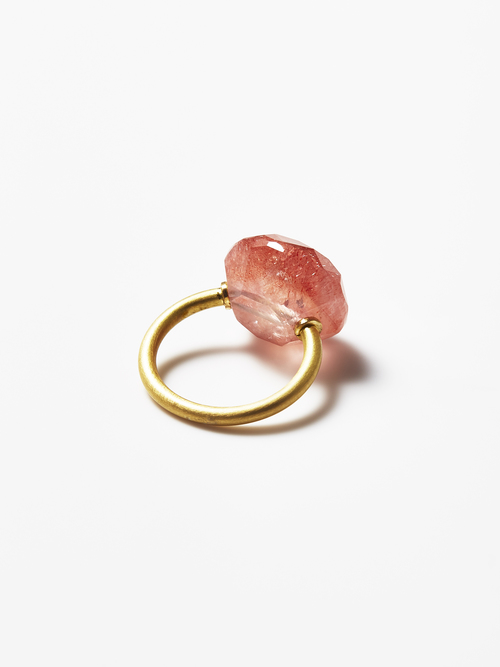 【SOLD OUT】ETSUKO SONOBE Ring/ストロベリークォーツ