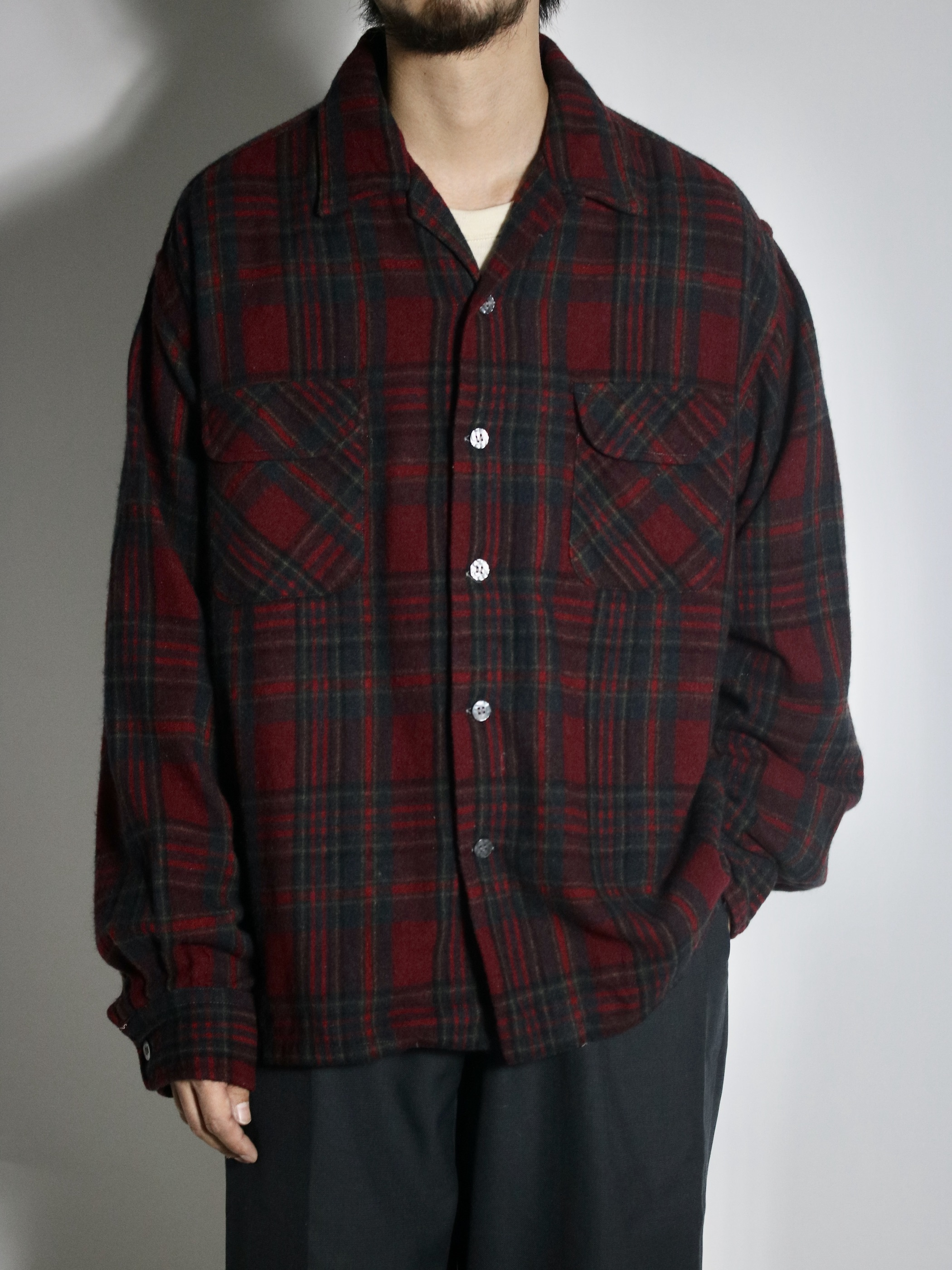 1960~70's Sears Roebuck Wool Open collar Shirts