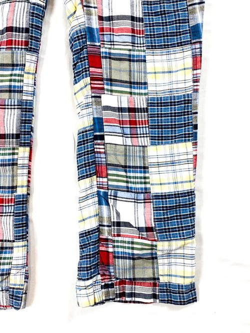 ORVIS madras check patch waork pants