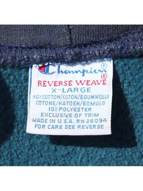 90's CHAMPION USA製 ジップアップカスタム リバースウィーブパーカー [XL]