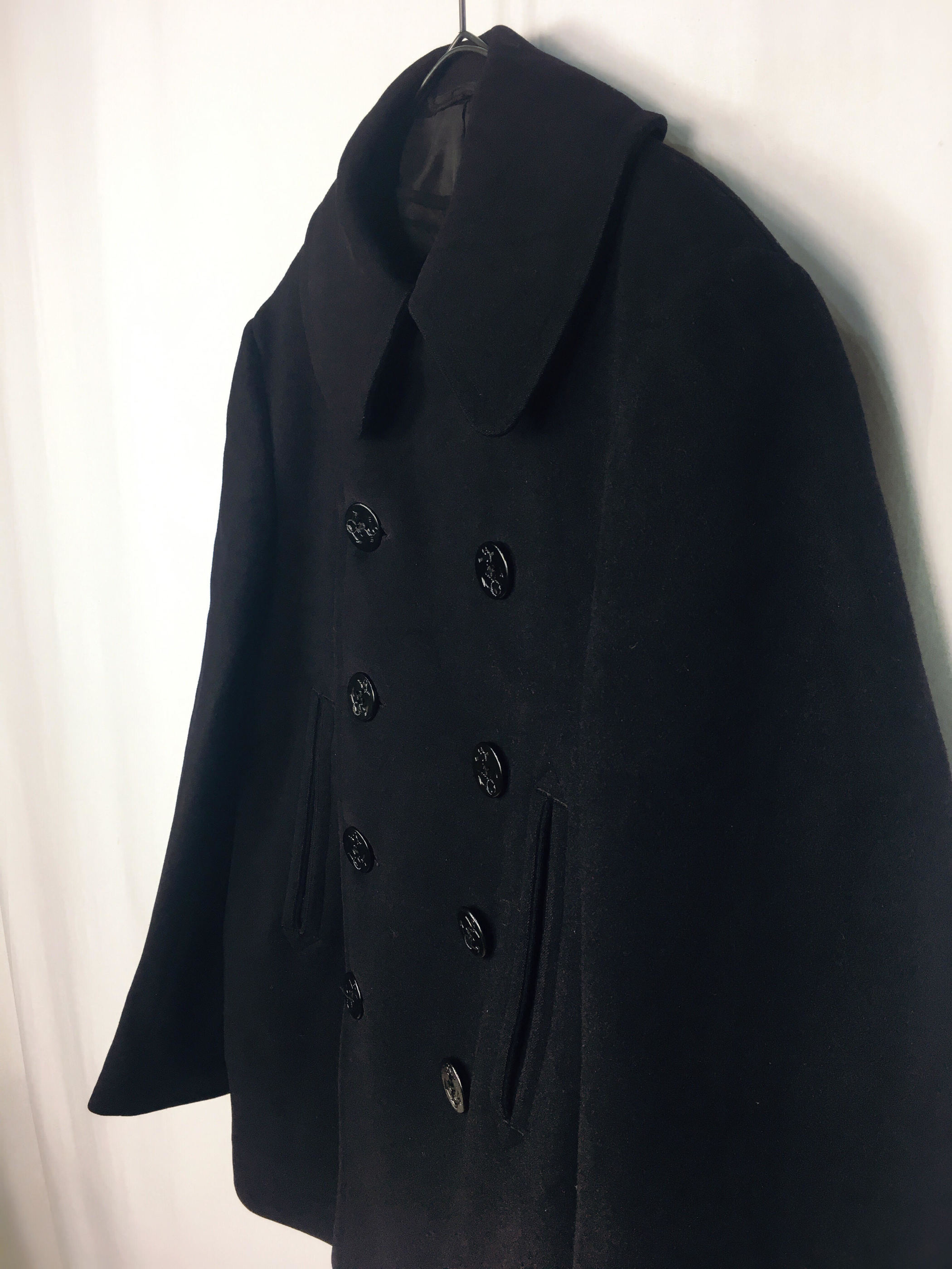 dracaena 40 39 s u s navy vintage 10 botton p coat u sネイビーp