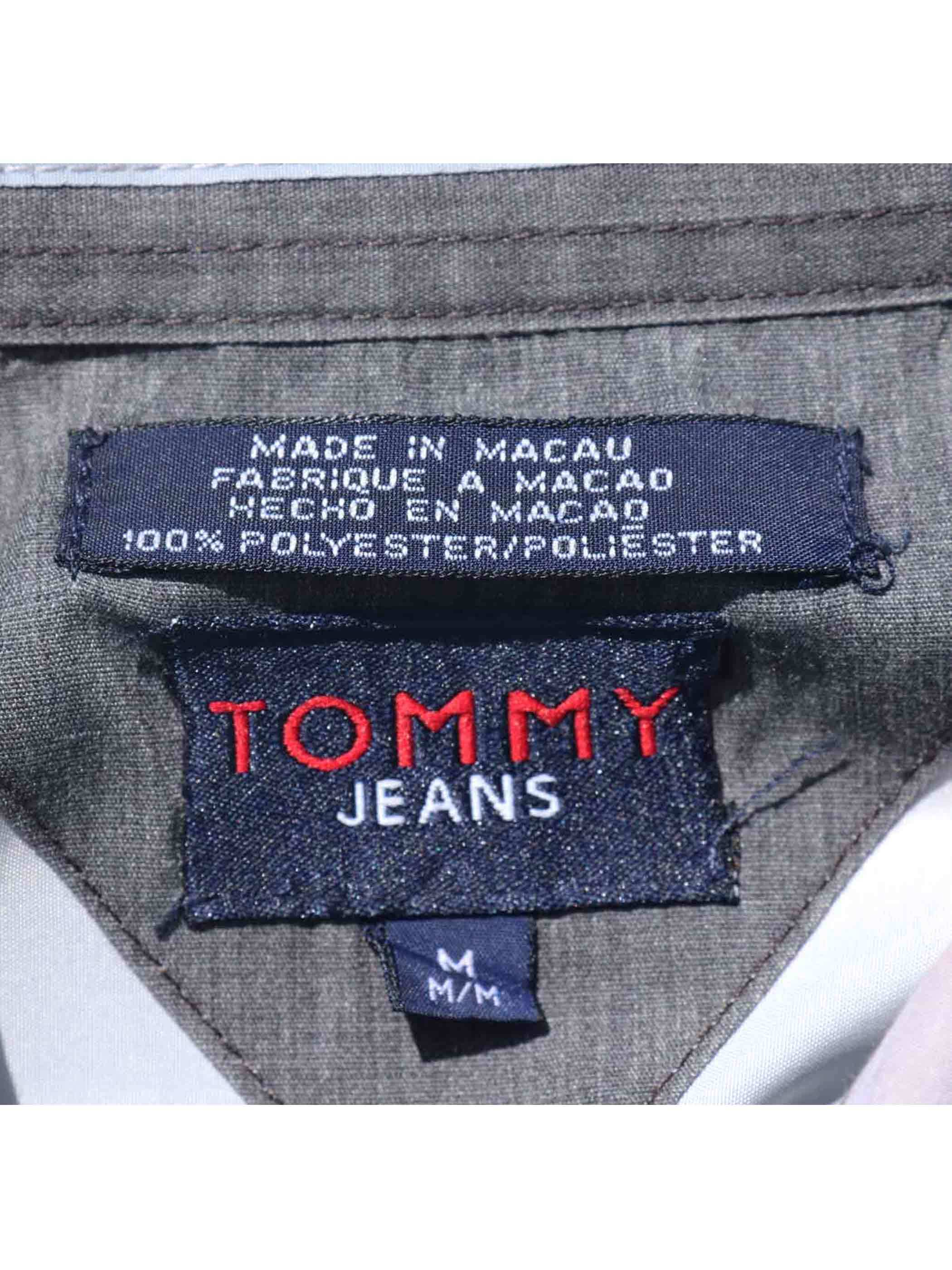 00's TOMMY JEANS 総柄転写プリント L/Sシャツ [M]