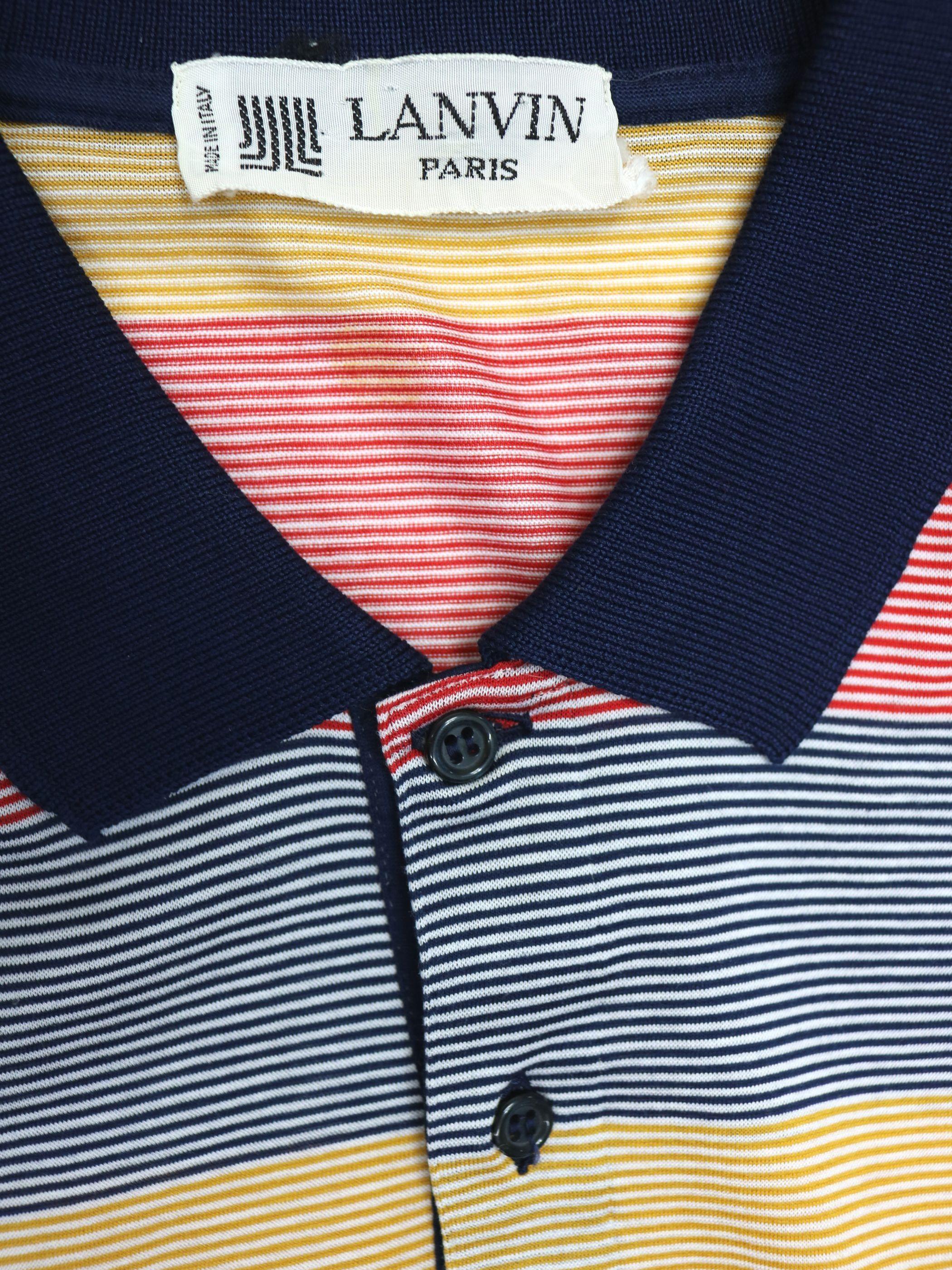 1980s / LANVIN  polo shirt