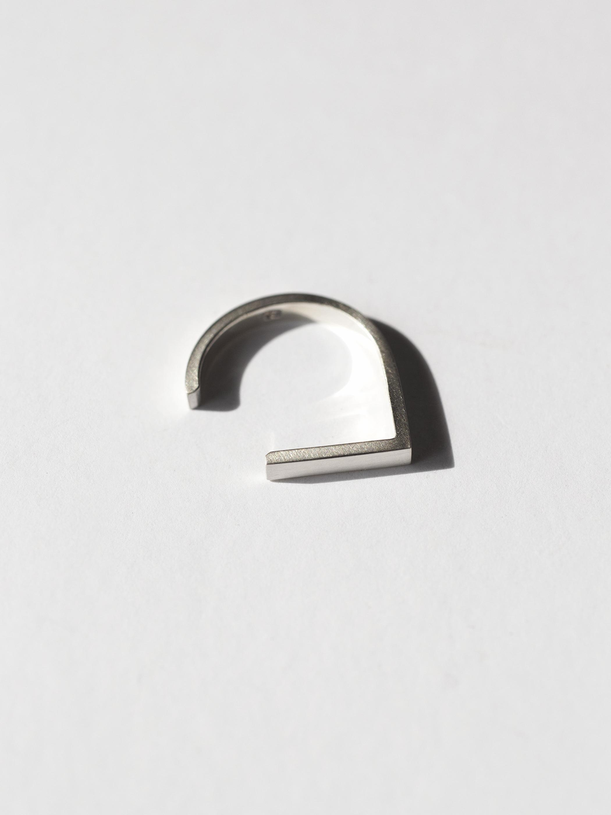 HARDWEAR ハードウェア リング(平打) シルバーカラー S / M