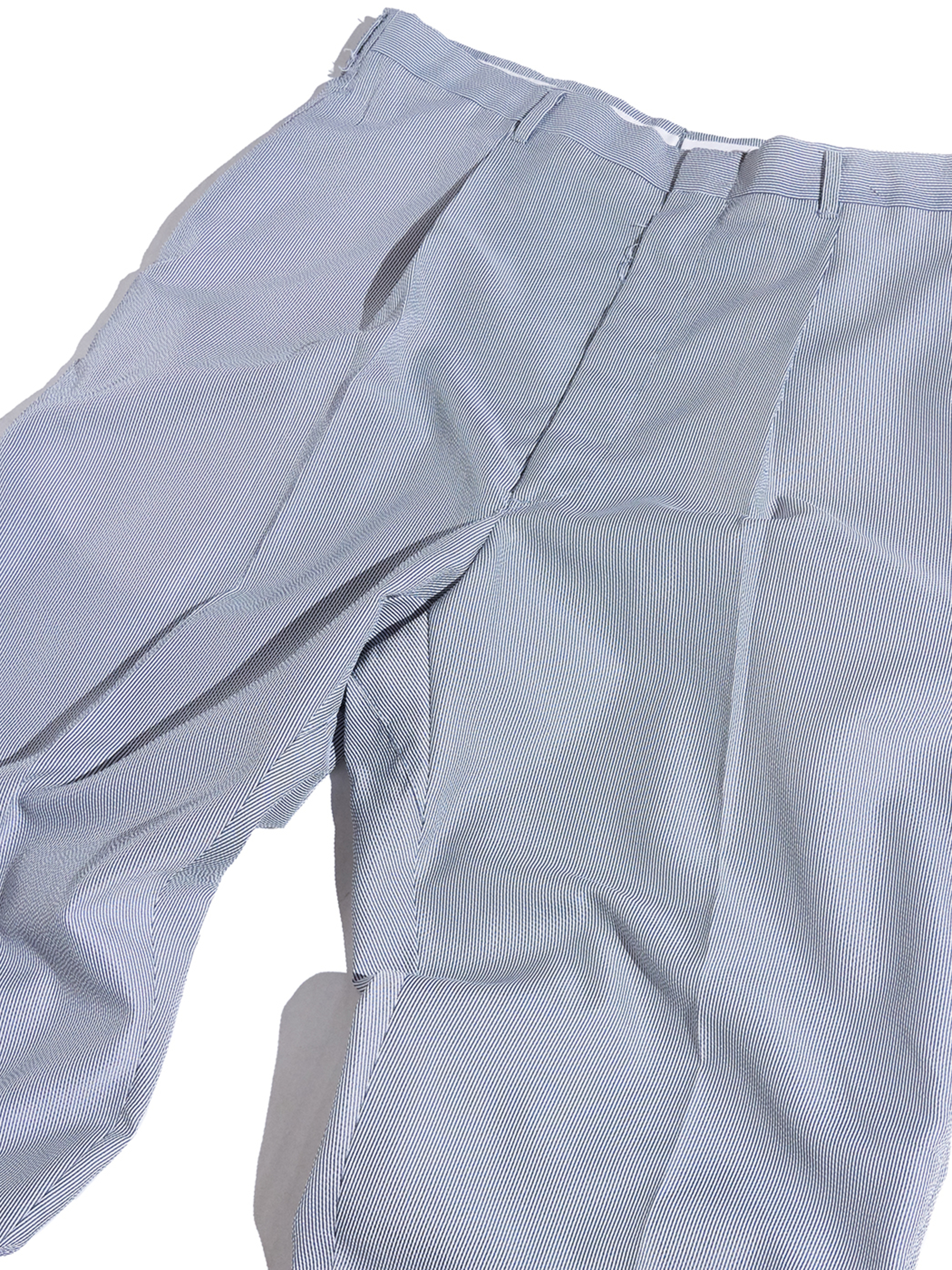 "1960s ""unknown"" nylon seersucker slacks -GREY-"