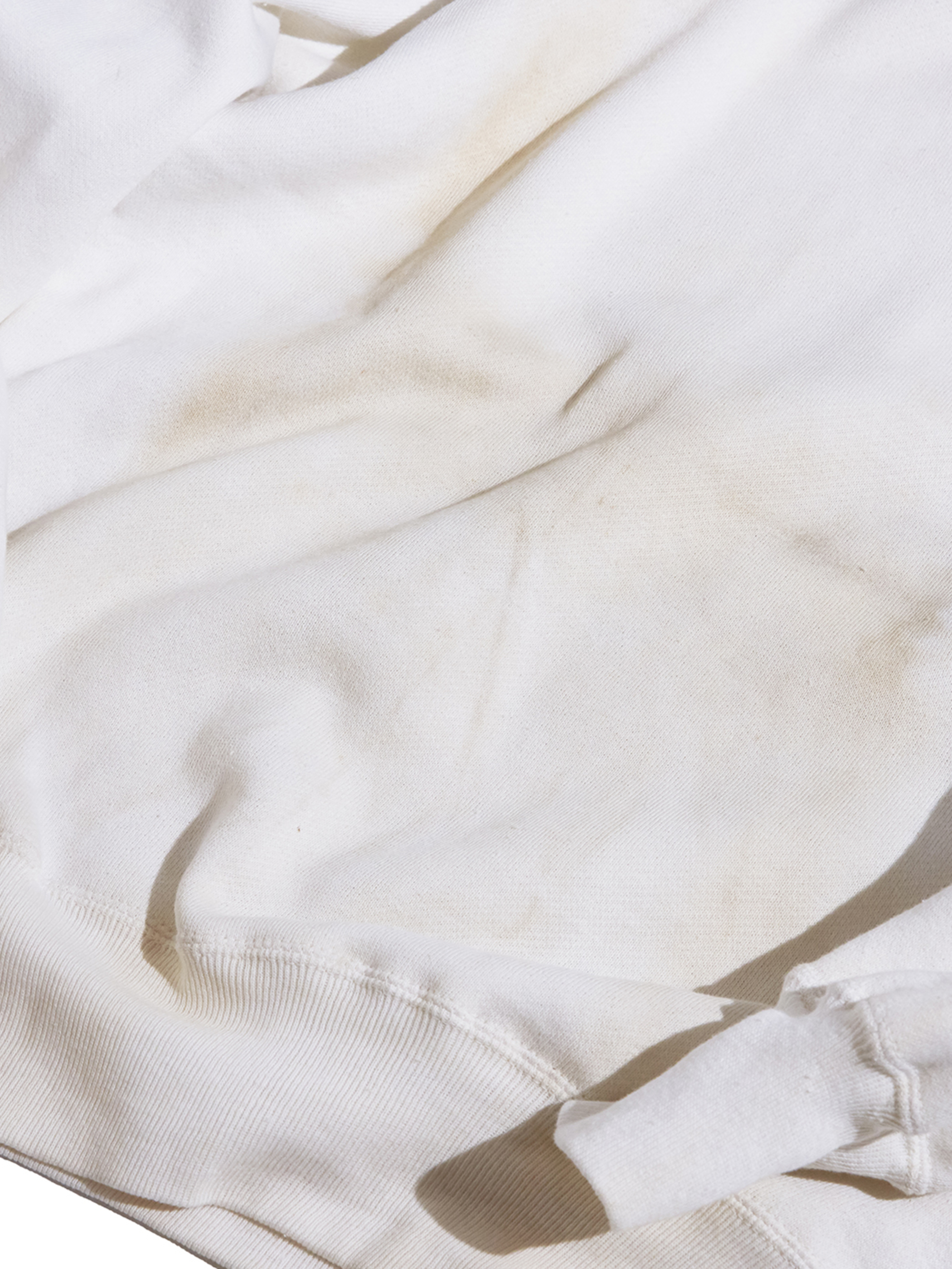 "1960s NOS ""unknown"" all cotton sweat -WHITE- <SALE¥18000→¥14400>"