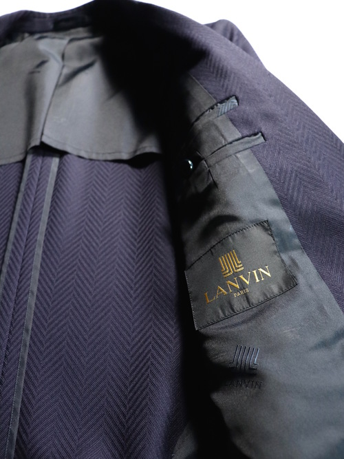Old LANVIN 2piece Suits Herringbone