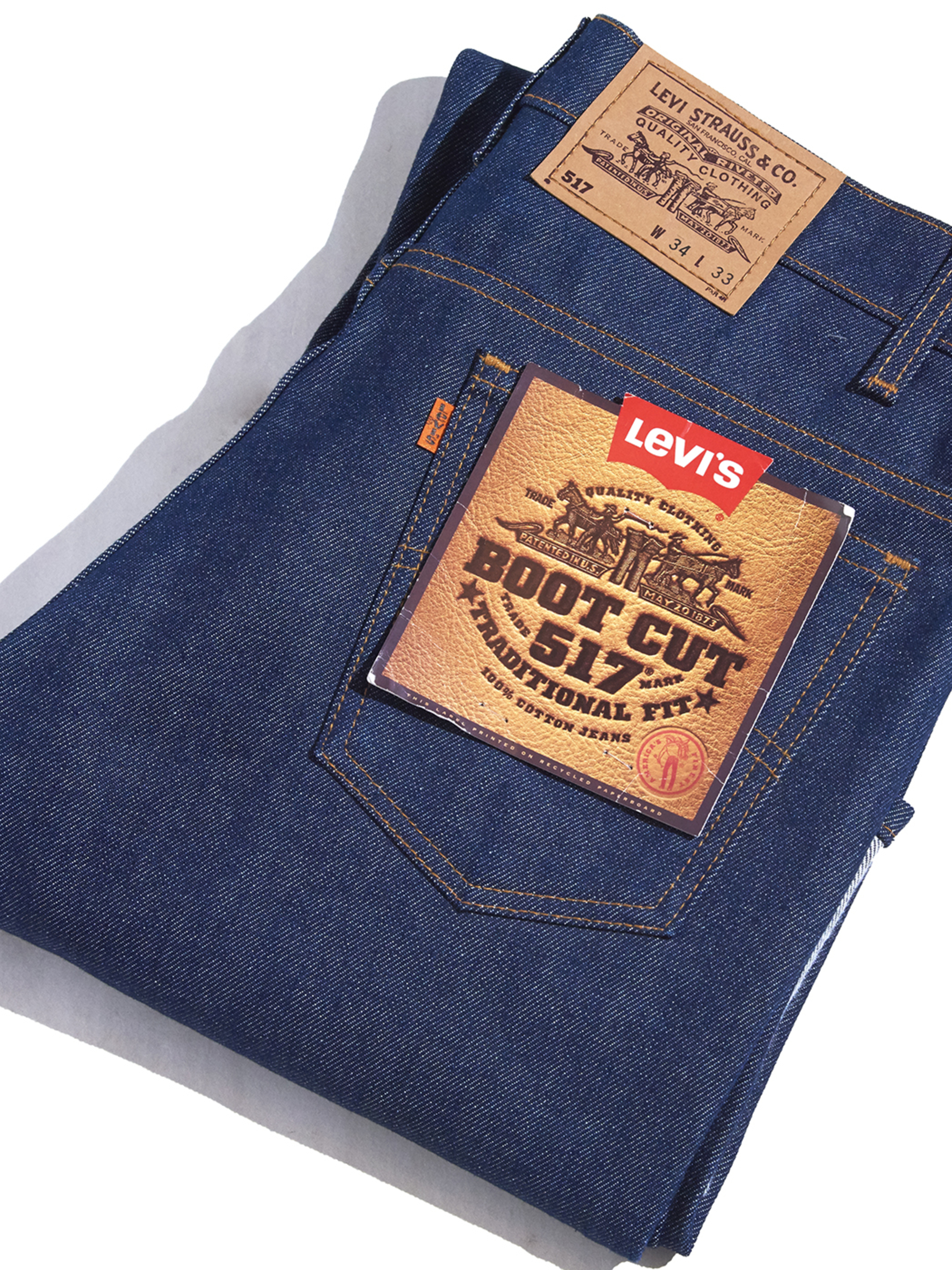 "1980s NOS ""Levi's"" 517 denim pants -INDIGO-"