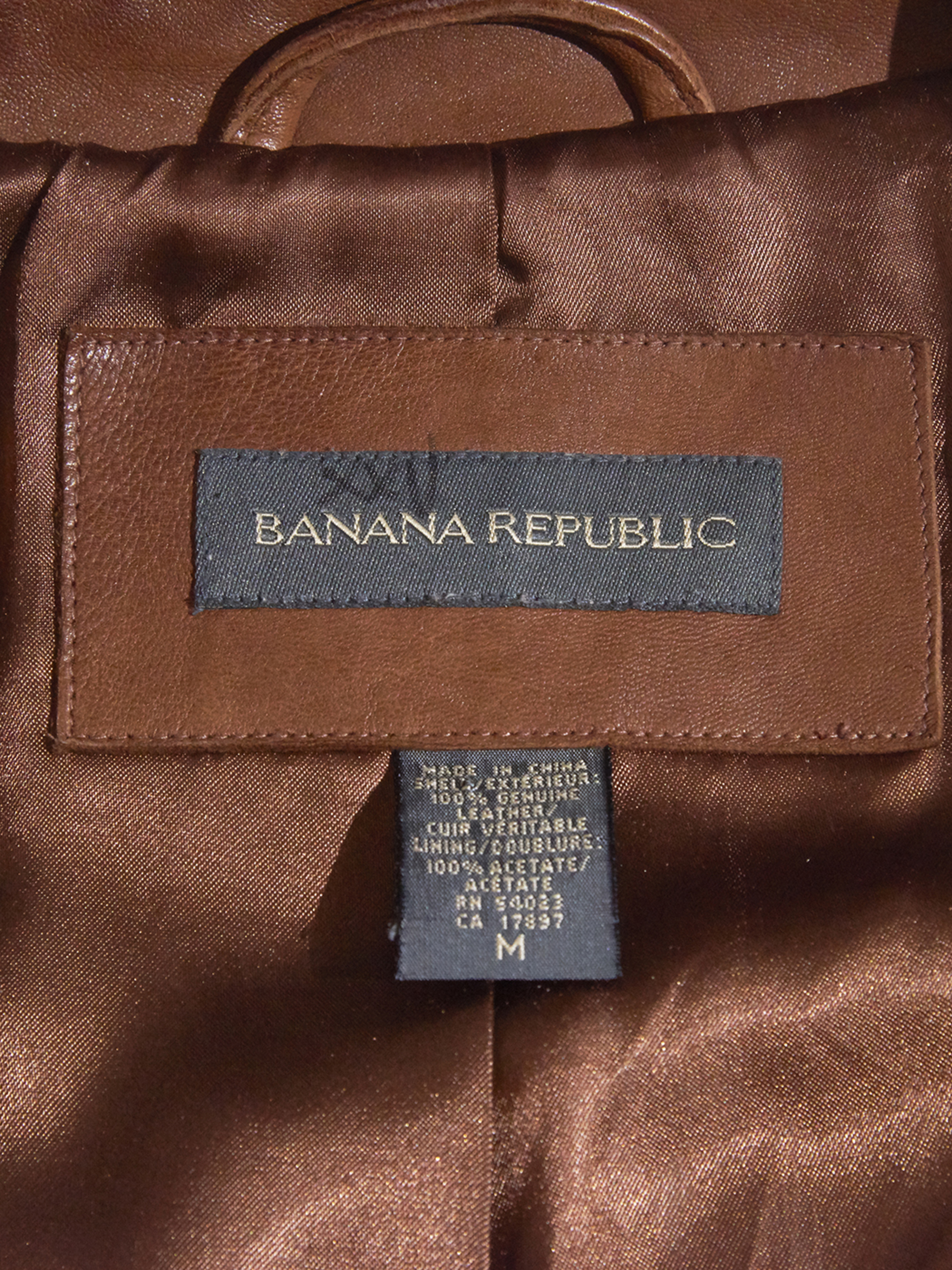 "1990s ""BANANA REPUBLIC"" smooth leather jacket -BROWN- <SALE¥25000→¥20000>"