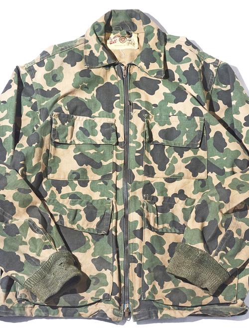 "1950s ""Bullseye Bill"" camouflage pettern fishing jacket -CAMOUFLAGE-"