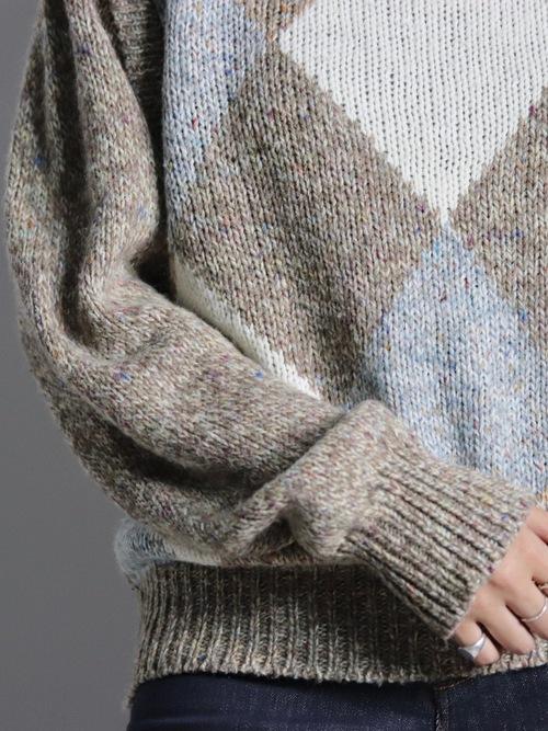 Melange highneck knit
