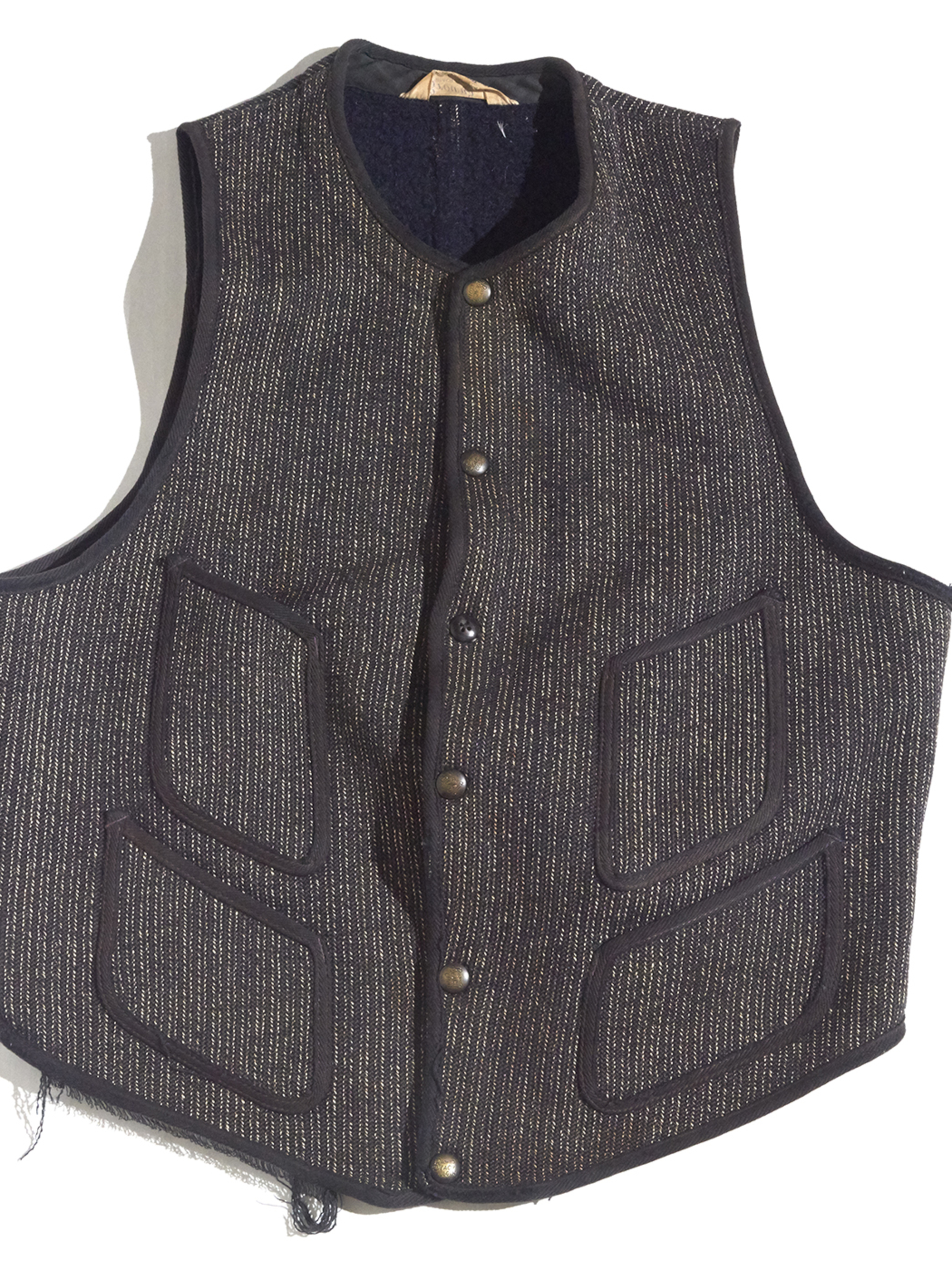 "1940-50s ""BROWN'S BEACH"" beach cloth vest -BLACK-"