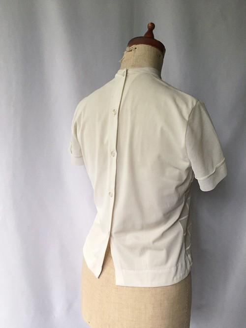 vintage cross collar sheer blouse