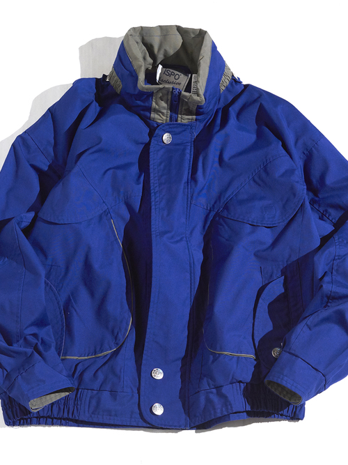 "1980s ""ISPO"" high neck blouson -BLUE- <SALE¥12000→¥9600>"