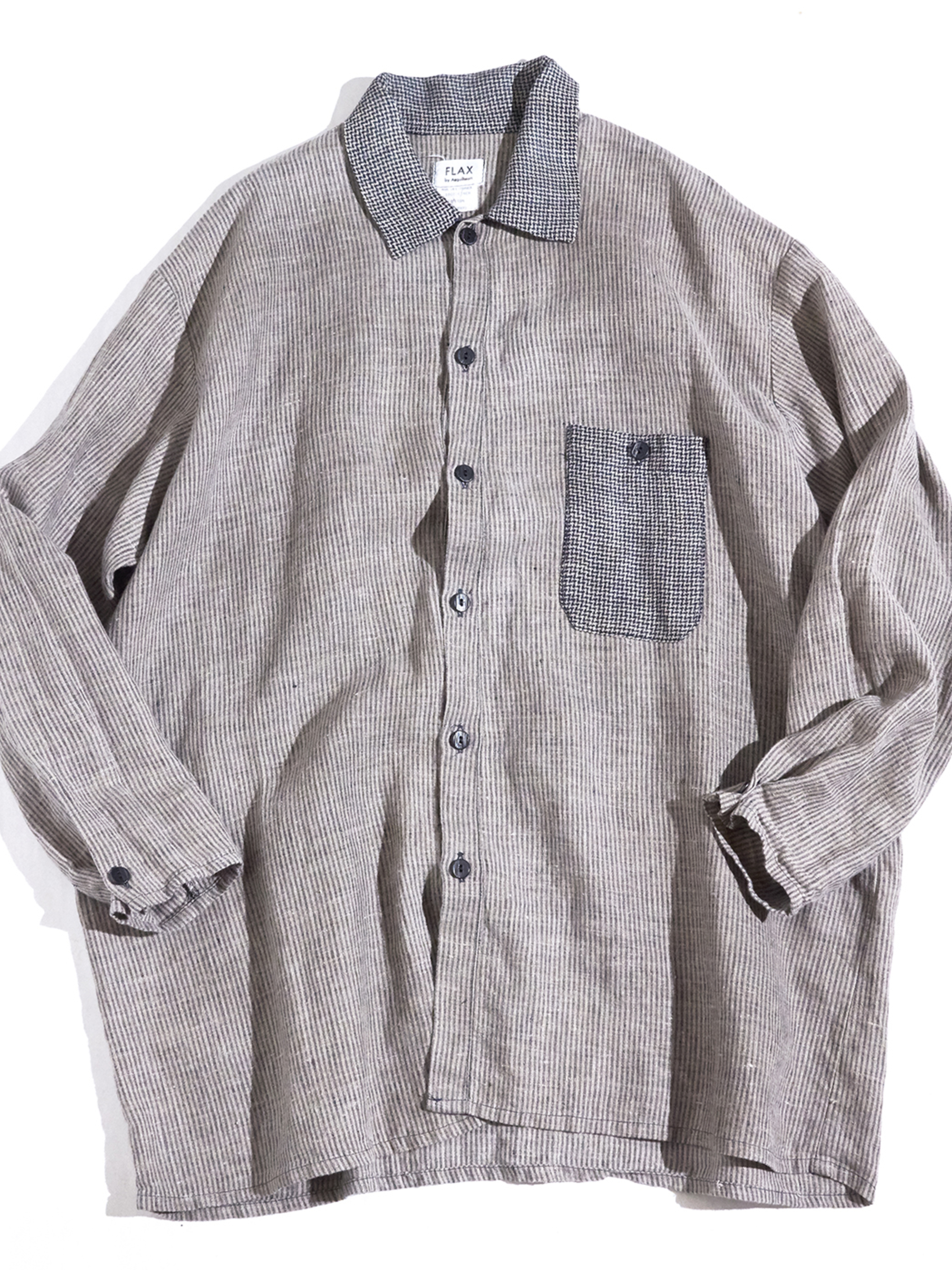 "1990s ""FLAX"" linen jacket -GREY-"