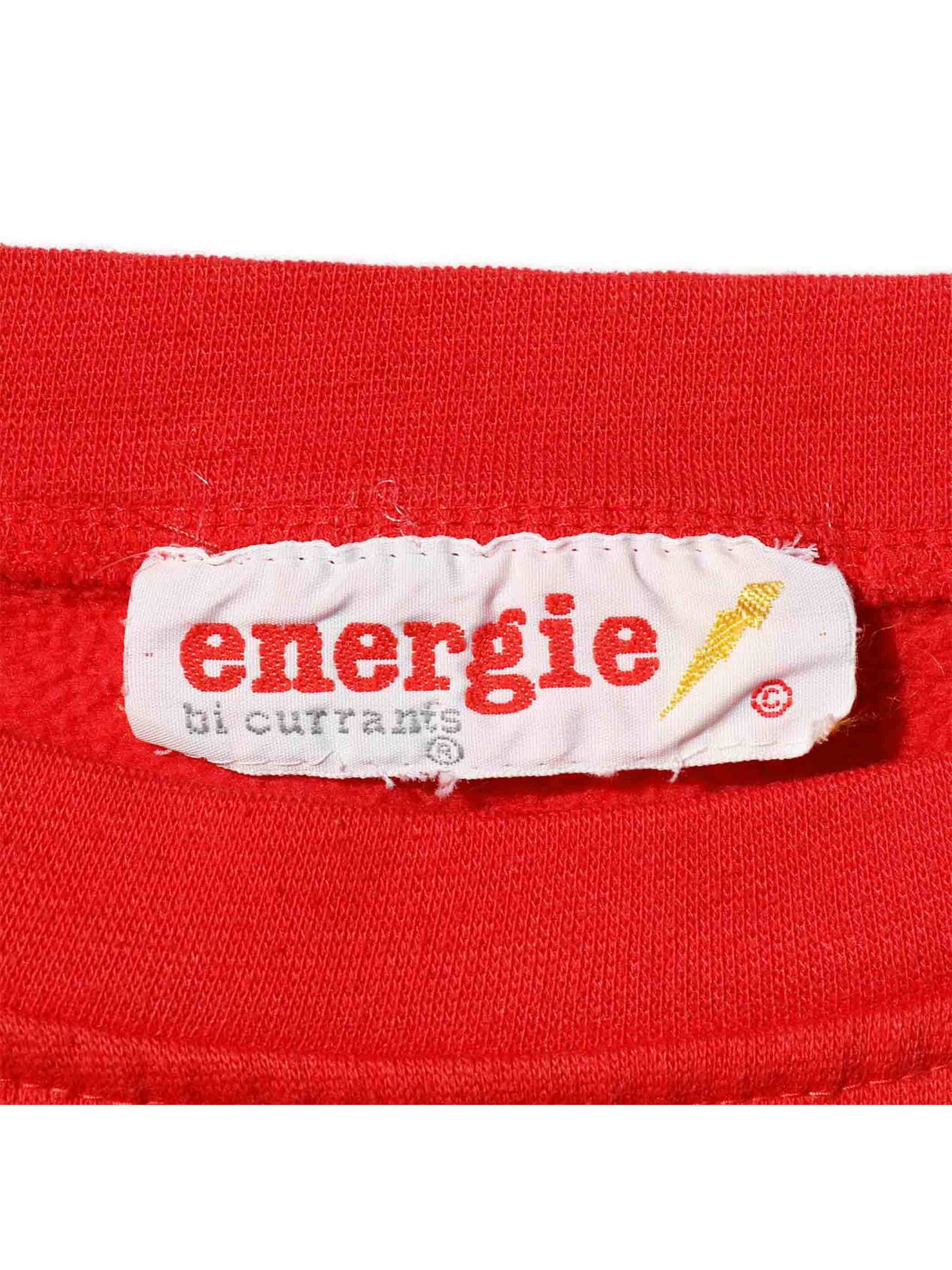 80's ENERGIE 3トーン ワイドスウェット [About XL]