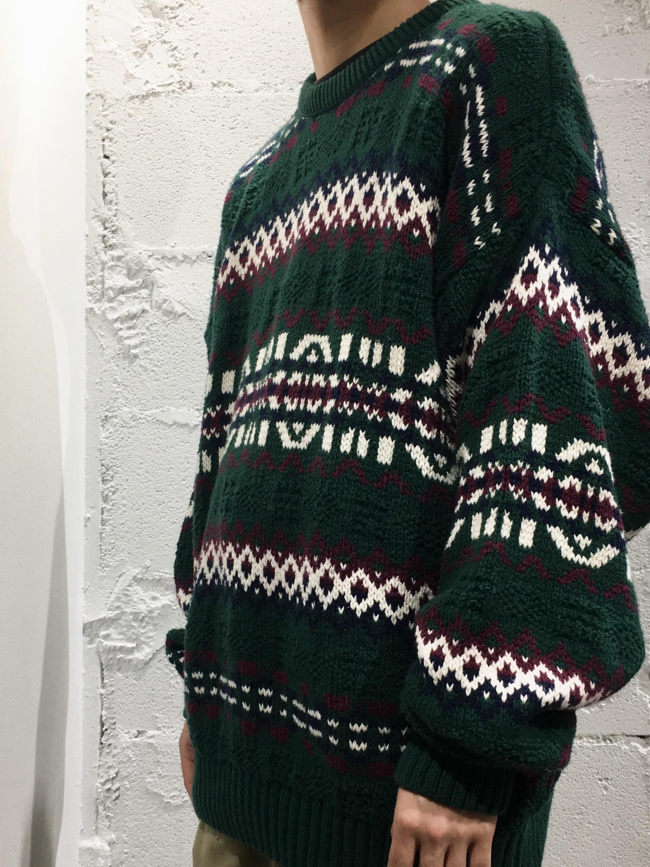 """Eddie Bauer cotton sweater""""fair isle pattern"""""""